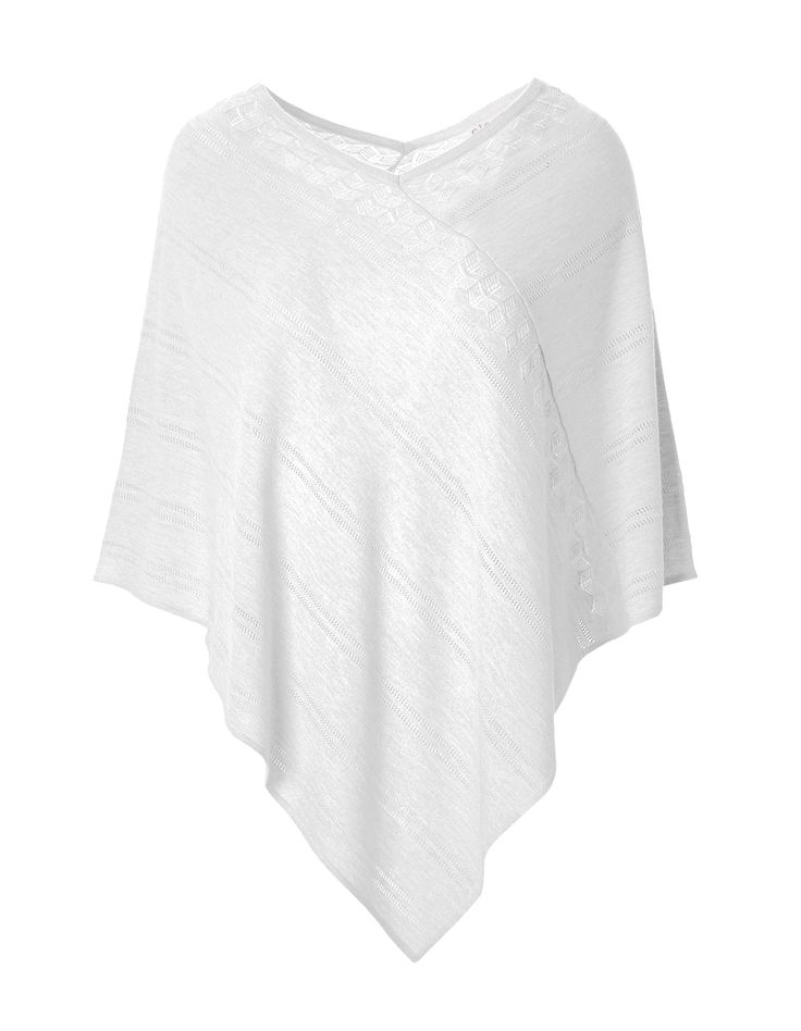 White Poncho SweaterWhite Poncho Sweater, White