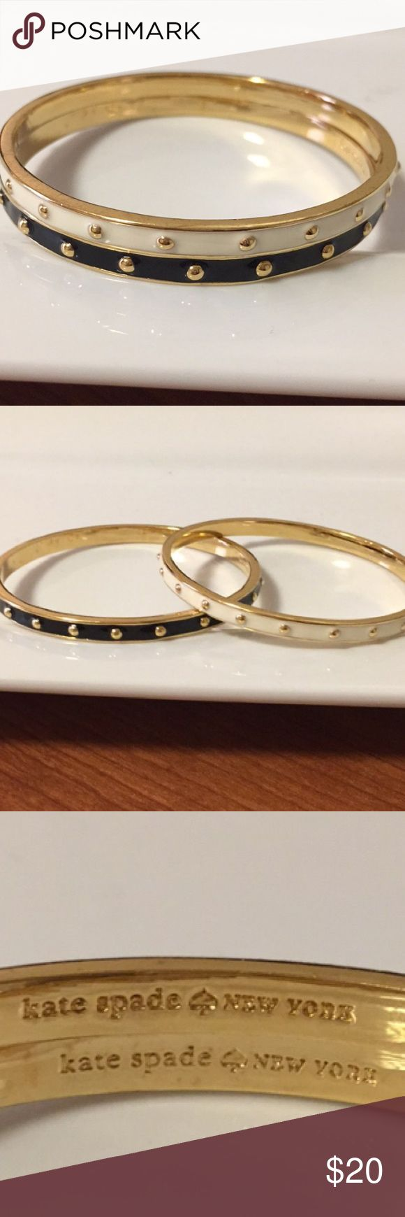 2 Kate Spade Bangles One black and one Kate Spade Bangle. Adds the perfect touch to many outfits! kate spade Jewelry Bracelets