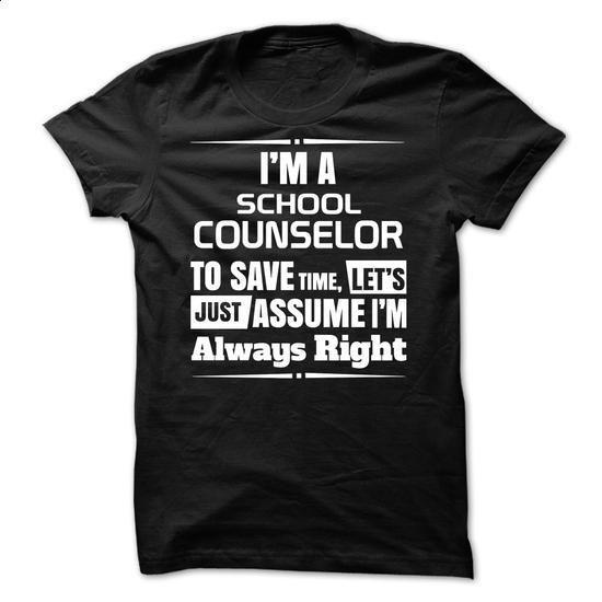 School Counselor - #sweats #free t shirt. BUY NOW => https://www.sunfrog.com/LifeStyle/School-Counselor-44101822-Guys.html?60505