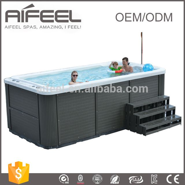 Source CE approved freestanding acrylic swimming pool whirlpool ...