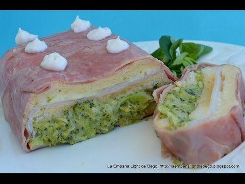 LA EMPANA LIGHT DE BEGO: Pastel frío de brócoli con jamón y queso