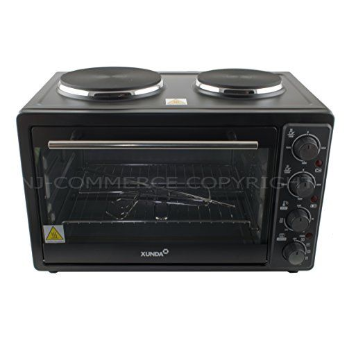 30l Mini Electric Oven 2 Hot Plate Convection Grill Hob Rotisserie Table Top 3300w Uk Appliances Direct Hot Plate Electric Oven Hobs