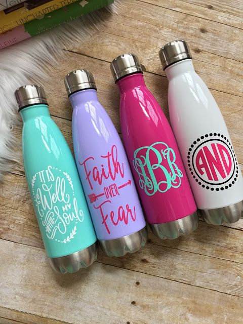 That Inspired Chick, stainless steel water bottles, personalized water bottles