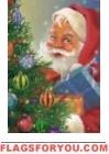 Here Comes Santa Claus Garden Flag