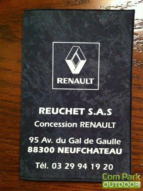 Porte-carte grise  pour le concessionnaire Renault Reuchet SAS de Neufchâteau (88).