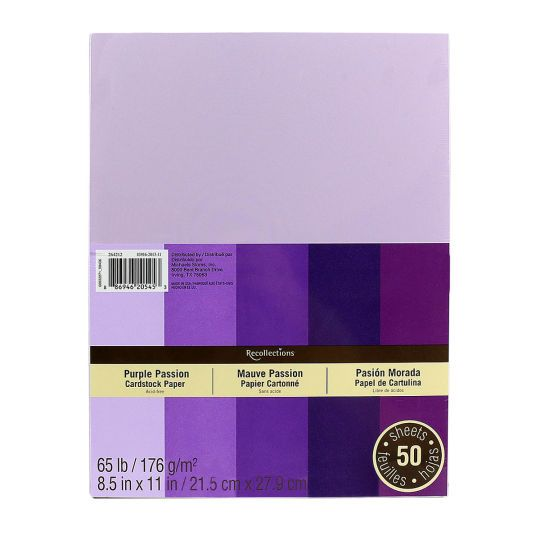 36 best cards recollections images on pinterest beautiful recollections purple passion cardstock paper 85 x 11 pronofoot35fo Gallery