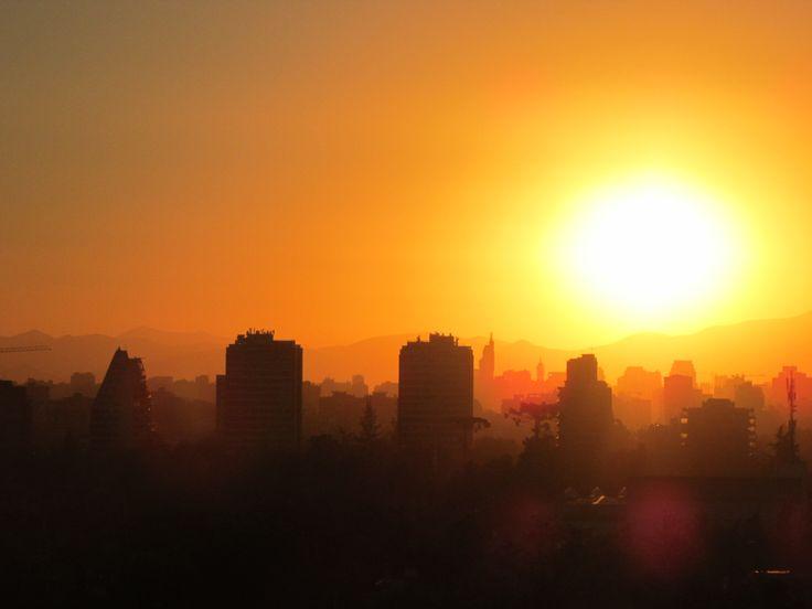 Atardecer en Santiago (Nov '13)