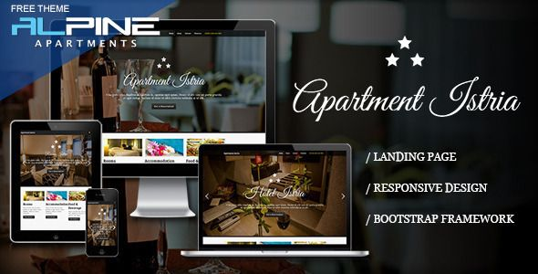 Apartment Istria is a single responsive Landing Page HTML theme. It is the perfect theme for anyone renting out. All links checked by VirusTotal.Com