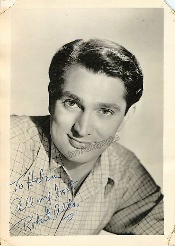 American actor (1914-1986) for both stage and film, and father of actors Alan and Antony Alda. Active from 1945 through 1983. Signed photo, 5 x 7 inches, inscribed, missing a small piece on the top ri