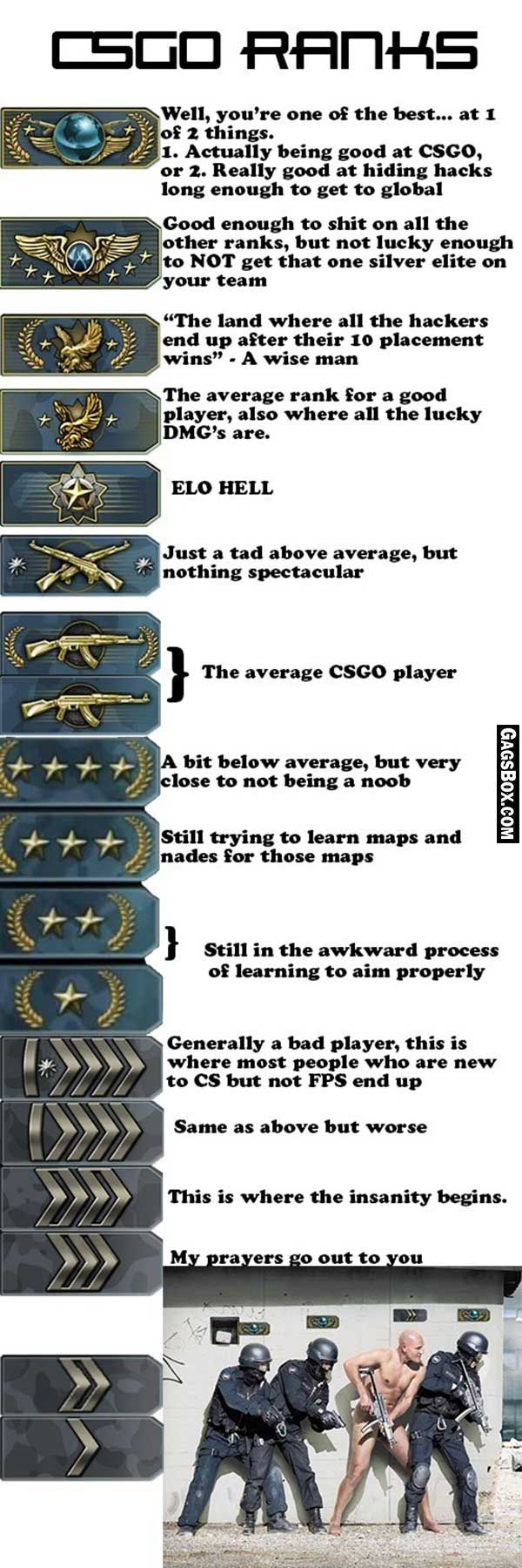 how to see your cs go rank