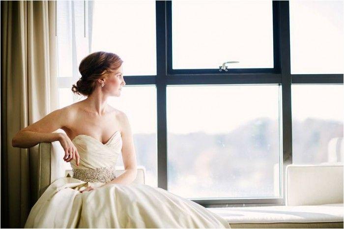 Bridal Portrait | Navy Rustic Elegance Proximity Hotel Wedding | Julie Livingston Photography | Leigh Pearce Weddings, Greensboro North Carolina Wedding Planner, Stylist, Coordinator