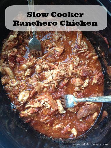 Slow Cooker Ranchero Chicken Recipe {Plus Back to School Baking Day!}   5DollarDinners.com