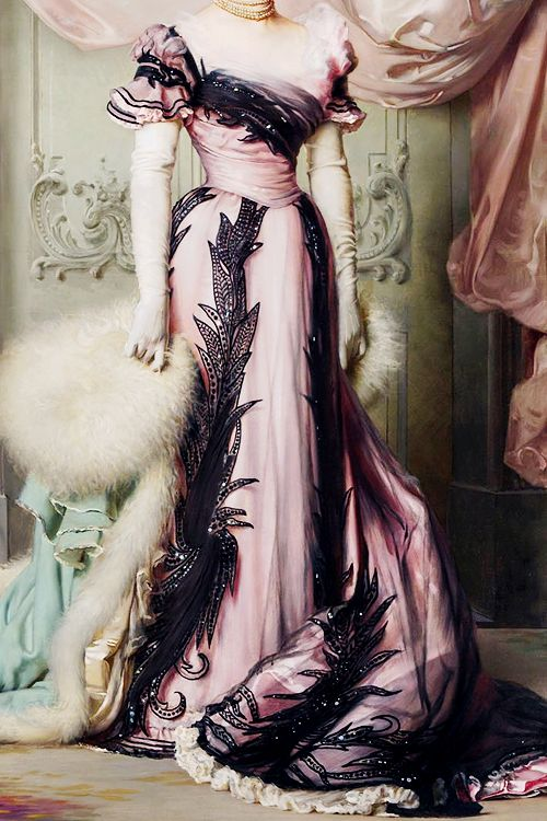 warpaintpeggy:  INCREDIBLE DRESSES IN ART (55/∞)Countess Carolina Maraini Sommaruga by Vittorio Matteo Corcos