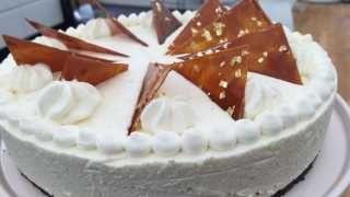 Cheesecake med saltkaramel og hvid chokolade Den store Bagedyst 2016