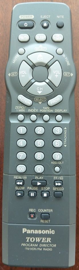 Panasonic Tower REMOTE CONTROL VSQS1602 For TV/VCR Combo PVL559D, PVL585, PVL650 #Panasonic