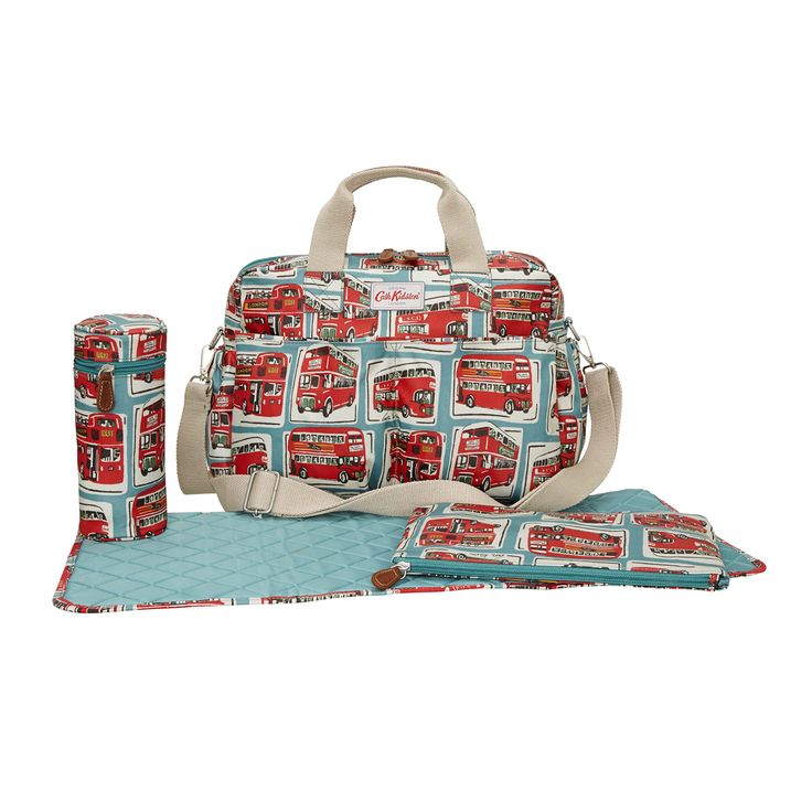 Changing Bags | London Buses Double Pocket Nappy Bag | CathKidston