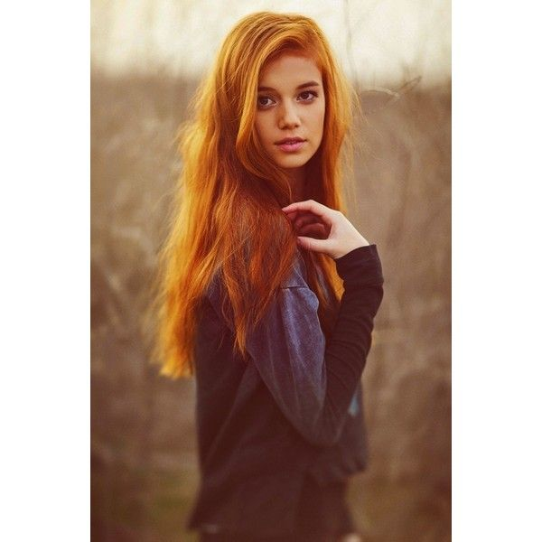 Orange Hair Tumblr fashionplaceface.com ❤ liked on Polyvore featuring hair, people, girls, pictures and pics