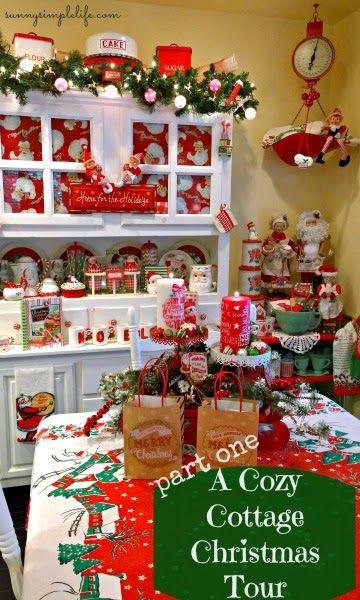 A cozy cottage Christmas tour part one | Christmas | vintage | Christmas kitchen
