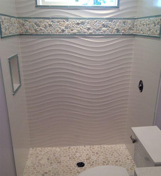 Glass Tile Borders Bathroom: 17 Best Images About Bathroom Installs On Pinterest