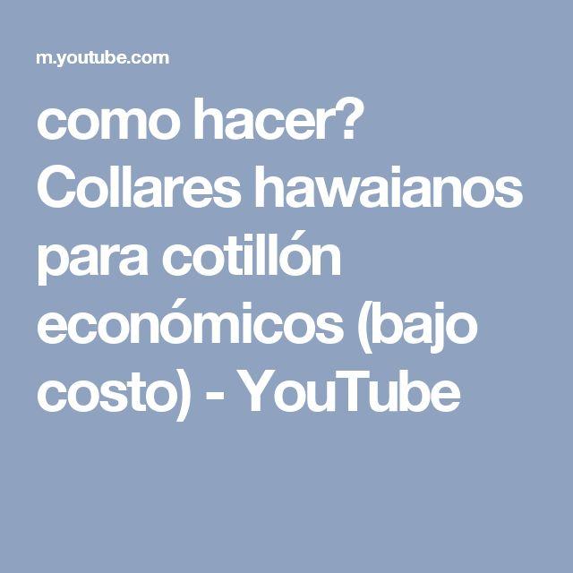 como hacer? Collares hawaianos para cotillón económicos (bajo costo) - YouTube