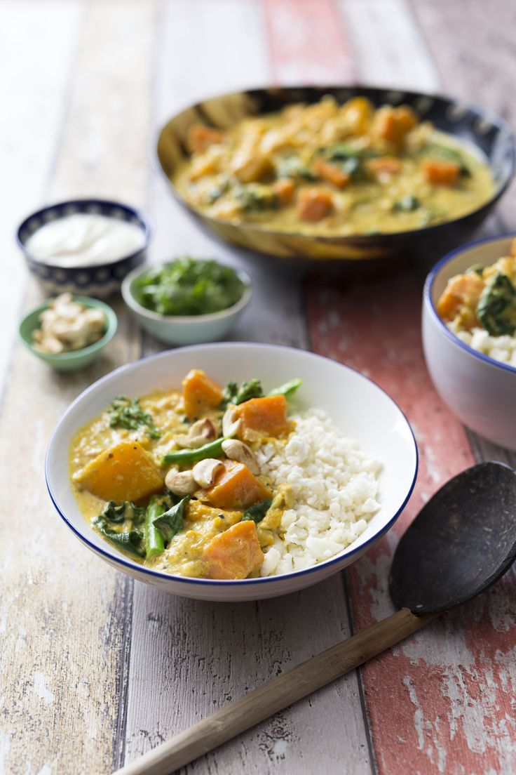 Vegetable curry with cauliflower couscous | Thermomix | Vegetarian Kitchen cookbook and recipe chip | p. 142 |