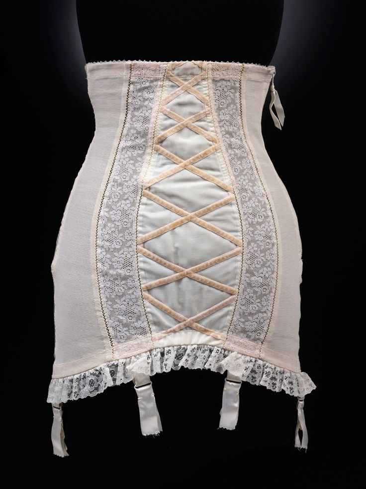 "1955 Dior Girdle. A must have.  Kind of ""scary"" to think I remember those days quite well!  My mother wore things like this."