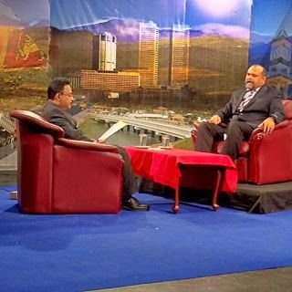 His Holiness Younus AlGohar on-air with TNL TV, a national television station headquartered in Colombo, Sri Lanka.