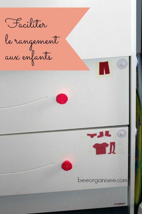 Faciliter le rangement aux enfants sur le blog Bee organiséee / rangement enfant, rangement jouets, rangement commode enfant, rangement chaussures enfant
