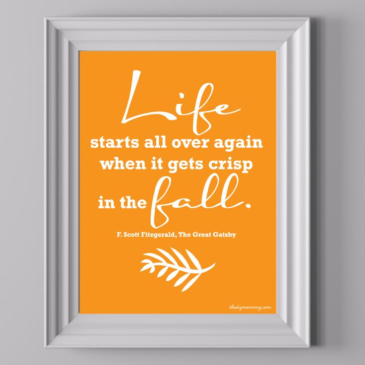 Life Starts in the Fall – Free Printable Artwork | The DIY Mommy