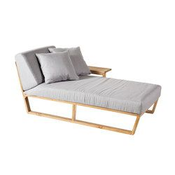 Lineal Sonnenliege, linker Arm | Liegestühle | Point