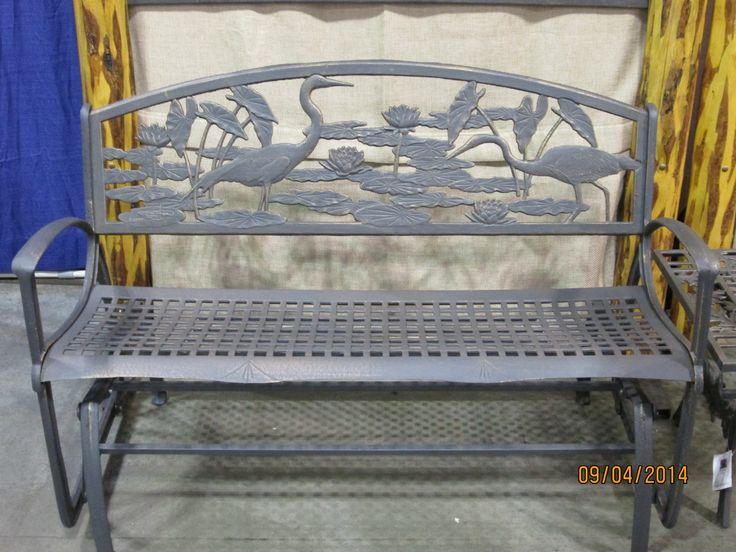 Painted Sky designs cast iron glider. www ...