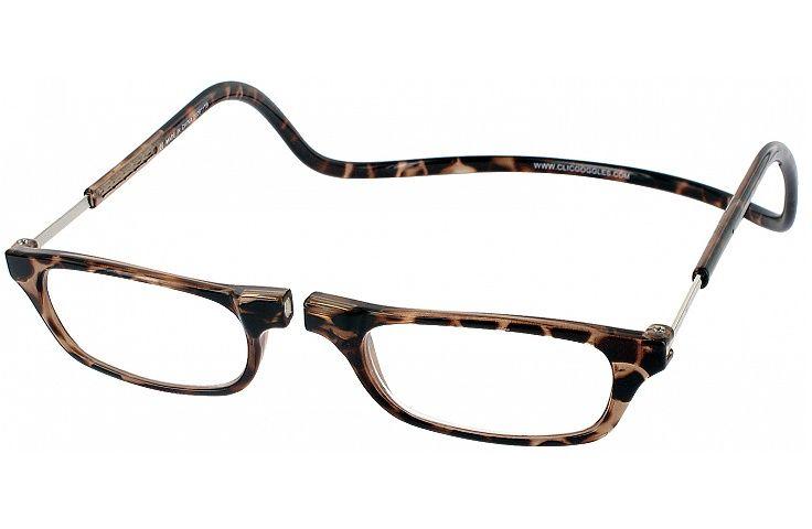 Clic Half Frame Black Reading Glasses : Clic Reader Single Vision Half Frame Crystals, Blue and ...