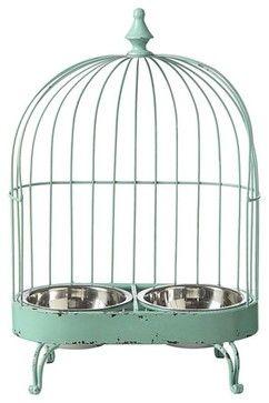 Birdcage Pet Feeder - eclectic - pet accessories - atlanta - Iron Accents