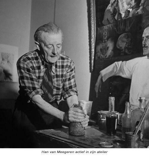 Han van Meegeren, (1889 -1947) forged 17th century dutch masters and fooled acknowledged connaisseurs like Abraham Bredius and Hofstede de Groot. In 1937 he  sold a large fake Vermeer painting to the Boymans Museum in Rotterdam. When the fraude was discovered the scandal that followed rapidly outshone the initial acclaim.