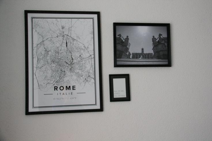 Mooie tekening van Rome van Mapiful.com. Bruiloft foto Rome