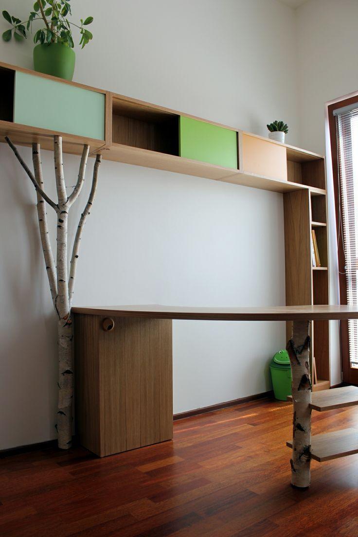 dětský pokoj s kouskem lesa  birch stem in kid´s room