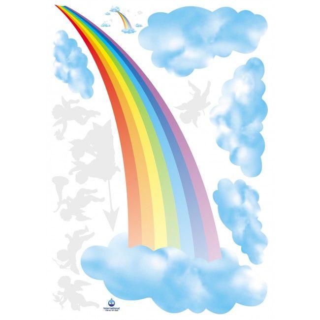 Afbeeldingsresultaat voor muursticker regenboog