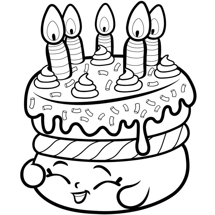 Cake Decorating Using Coloring Book Pages - Coloring Page