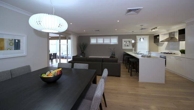 Kitchen/living/dining  #kitchendesign #gourmetkitchen #kitchen #diningroom #diningroomideas #livingarea #loungeroom #interior design #building #newhome #floorplan #newdesign #homedesign