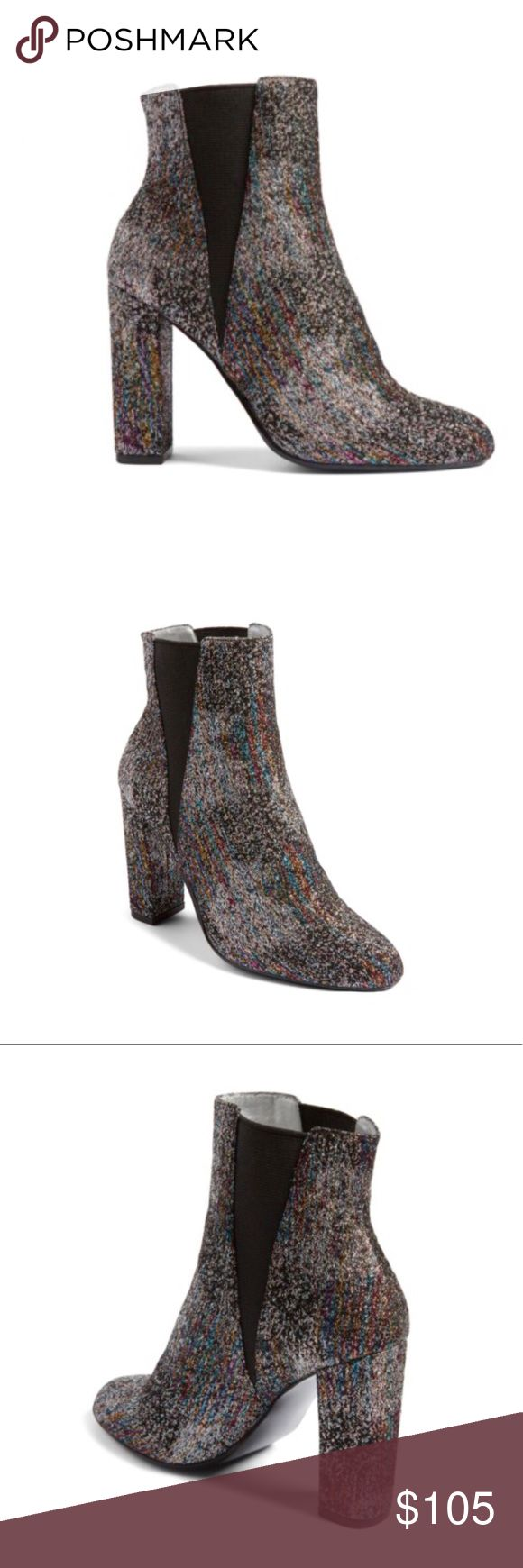 """Steve Madden Bootie Details -Heel Style:Block/Chunky -4"""" heel -Pull-on style -Leather or textile upper/synthetic lining and sole  FREE SHIPPING OFFER AGREEING TO PAY THE FULL PRICE.   REASONABLE OFFER ARE WELCOME.  NO TRADES. Steve Madden Shoes Ankle Boots & Booties"""