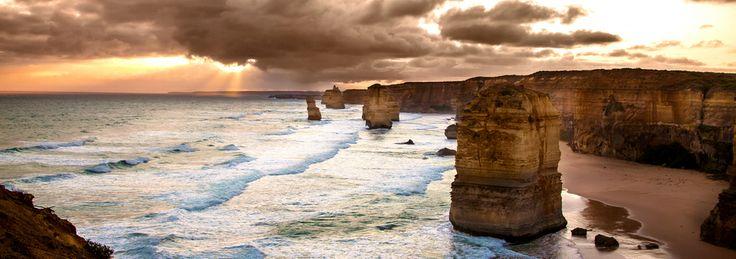 Backlit Apostles Golden Sunset - Melbourne Visit us on http://chandlerdental.com.au