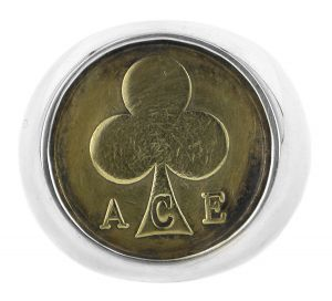 ACE vintage token signet ring in sterling silver - $440