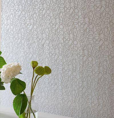 Дляэлегантной спальни: жемчужно-серые обои с бисерным узором PDG690/04 – Ампир Декор