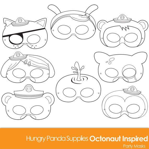 Octonauts Inspired Printable Coloring Masks, octonaut mask, cartoon masks, printable masks, character masks