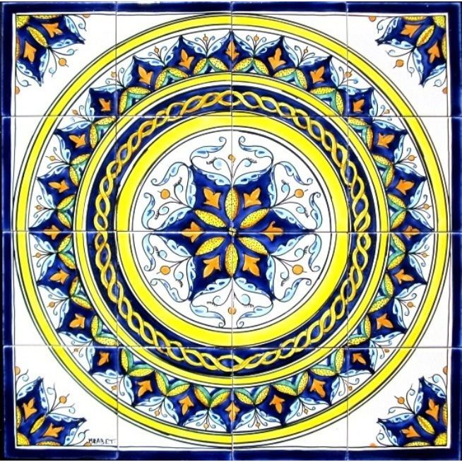 <li>Mosaic tiles are handmade and hand-painted in the Mediterranean country of Tunisia<li>Ceramic tiles are individually fired and have a world class handmade finish<li>Each mosaic is beautifully handcrafted so no two are exactly alike