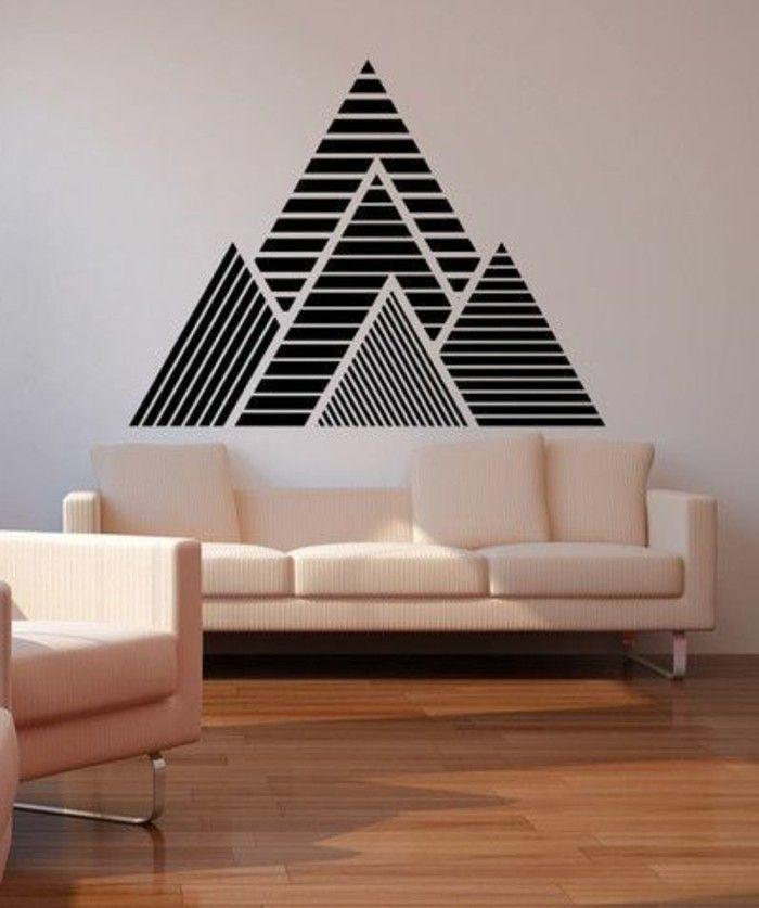 Kreative Wandgestaltung Mit Farbe: Tolle Wandgestaltung Mit Farbe
