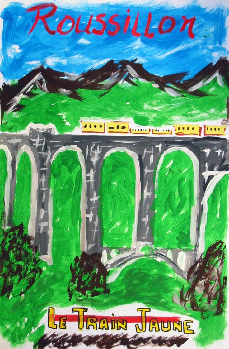 Artwork by Richard Fernandes, 14, of our Sister City Perpignan, France reflects the bright sun-drenched colors of the city of Perpignan in the Catalan area of France, and the snow-capped glacial terrain of the nearby Pyrennes. The Sister City artwork was displayed at the Hands of Heritage Fest at the Robarts Arena in 2003