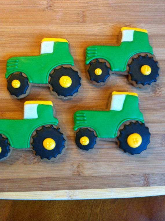 Tractor Cookies by Heidissweetshoppe on Etsy, $24.00