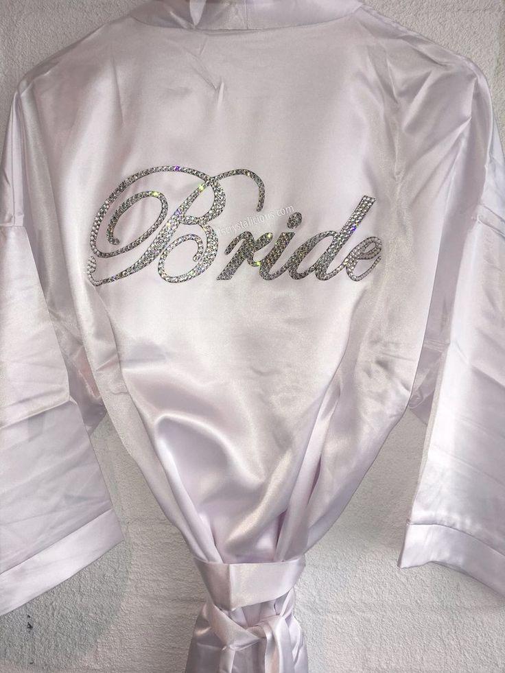 Crystalicious® Bridal Robe embellished with SWAROVSKI® Crystals - Bride *