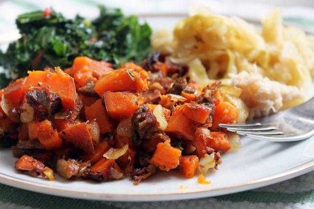 Corned Beef and Sweet Potato Hash